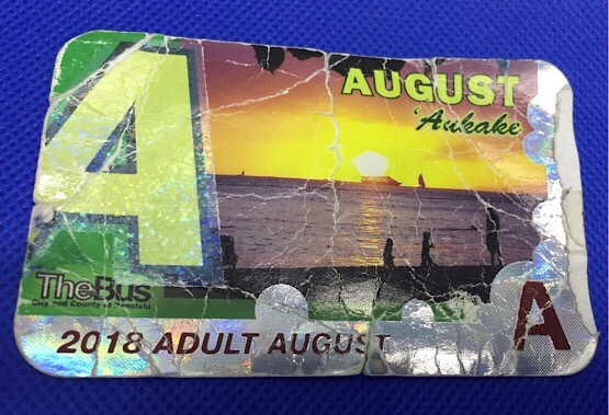 August 2018 Bus Pass