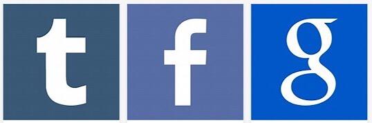 Tumblr, Facebook, Google Search